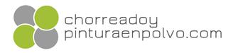 Logotipo Chorreado y pintura en polvo